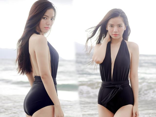Hoa khôi Hạ Anh khoe eo thon 58cm với bikini gợi cảm