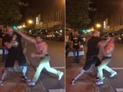 """Thể thao - Gã trai hùng hổ đánh võ sĩ MMA: 1 đấm đã """"tắt điện"""""""