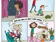 Bộ tranh cho thấy, mỗi bà mẹ là một anh hùng