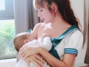 Đời sống Showbiz - Vợ Lý Hải khoe ảnh cho con bú gây tranh cãi