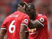 """Bàn thắng đẹp Ngoại hạng Anh vòng 1:  Pogba  """" đọ pháo """"  Lukaku"""