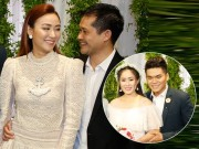 Vợ chồng Ngân Khánh tình tứ dự đám cưới Lê Phương