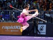 """Vang dội SEA Games:  """" Cô gái vàng """"  Dương Thúy Vi giành 2 HCV wushu"""