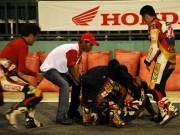 Tay đua Việt nhập viện vì bị cán qua người ngay khi xuất phát