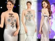 """Váy  """" mặc như không """"  của Phạm Hương hot nhất tuần này"""