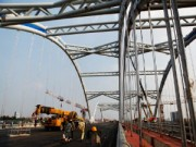 Tin tức trong ngày - Ảnh: Cầu vòm thép Đông Trù trước giờ thông xe