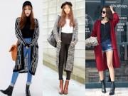Thời trang - Mặc gì với cardigan siêu dài?