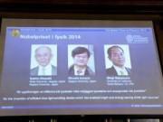 Tin tức trong ngày - Ba nhà khoa học đoạt giải Nobel nhờ bóng đèn LED