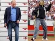Thời trang - Tổng thống Nga, Mỹ phong độ với quần jeans