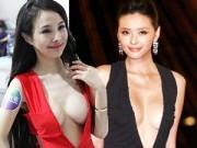"""Thời trang - """"Đau mắt"""" vì váy cổ V sâu hoắm của mỹ nữ Trung Quốc"""
