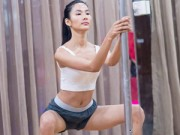 Người mẫu - Hoa hậu - Hoàng Thùy thâm tím mình mẩy vì múa cột