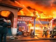 Video An ninh - Cháy lớn tại chợ người Việt ở Nga