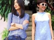 Thời trang - Gam xanh phủ sóng thời trang xuống phố của sao Việt