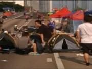 Video An ninh - Cảnh sát Hồng Kông đụng độ người biểu tình