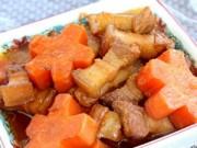 Ẩm thực - Ngon xuýt xoa thịt ba chỉ kho cà rốt