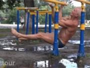 Cụ ông 74 tuổi lại tạo cơn sốt thể dục đường phố