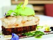 Ẩm thực - Tinh tế cá hồi ngâm bơ, kem đá wasabi