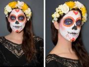 Làm đẹp - Hướng dẫn vẽ mặt nạ ấn tượng ngày Halloween