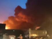 Tin video - Cháy lớn tại kho chứa mút xốp ở Hưng Yên