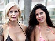 Tư vấn làm đẹp - Cặp chị em sinh đôi thành tượng sáp vì nghiện dao kéo
