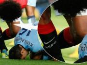 Video bóng đá hot - Nghi án Fellaini nhổ nước bọt vào Aguero