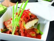 Ẩm thực - Ấm lòng cá mú nướng xốt thập cẩm