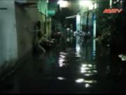 Video An ninh - TP.HCM: Xả cống thủy lợi, khu dân cư ngập sâu trong nước