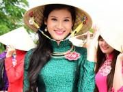 Người mẫu - Hoa hậu - Thí sinh Hoa hậu VN mỹ miều khoe sắc với áo dài