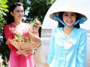 Thời trang bốn mùa - Ứng viên HHVN đằm thắm với áo bà ba