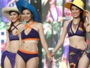 """Thời trang - Top 18 """"lò luyện hoa hậu"""" lần đầu diễn bikini"""