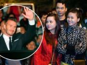 """Bóng đá - Beckham điển trai đến VN khiến fan nữ """"điên đảo"""""""