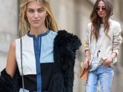 Thời trang - 5 cách mặc denim sành điệu trong mùa đông