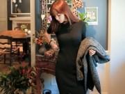 Thời trang - Váy len: Chiếc váy phải có của mùa này!