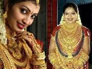 Thời trang - Cô dâu Ấn Độ đeo hàng yến vàng trên người