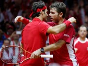 Thể thao - Federer tỏa sáng, Thụy Sĩ thắng trận đôi trước chủ nhà Pháp