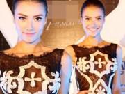 Thời trang - Hồng Quế gây tò mò với váy xuyên thấu