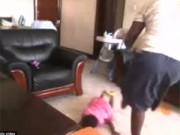 Bạn trẻ - Cuộc sống - Em bé bị bảo mẫu đánh đập tàn nhẫn
