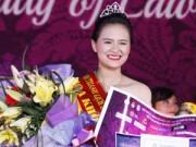 Nữ sinh cao 1,72m đăng quang Hoa khôi khoa Luật