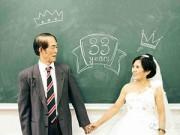 Bạn trẻ - Cuộc sống - Cặp đôi U70 chụp ảnh cưới ở giảng đường
