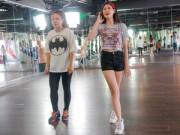Ca nhạc - MTV - Trương Quỳnh Anh khoe chân dài, eo thon đi tập nhảy