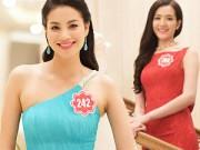 Thời trang - Ứng viên vương miện HHVN lộng lẫy trong váy dạ hội