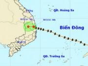 Tin tức trong ngày - Vào Bình Định, Phú Yên, bão số 4 suy yếu
