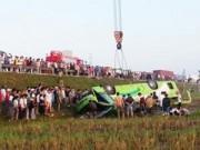 Video An ninh - Vụ xe lao xuống ruộng ở Nghệ An: Tạm dừng hoạt động nhà xe