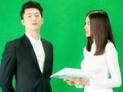 Phim - Thanh Hằng mặc áo dài trắng tinh khôi bên Harry Lu
