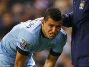 """Bóng đá - Rời sân sớm, """"thần tài"""" Aguero bật khóc"""