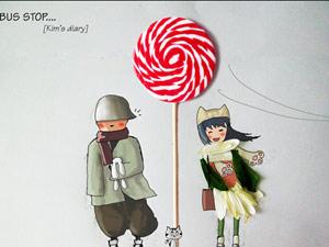 """9x vẽ tranh """"độc"""" từ vỏ hoa quả, kẹo mút"""