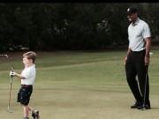 Thể thao - Golf thủ 3 tuổi cụt tay được chơi cùng Tiger Woods