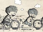 """Bạn trẻ - Cuộc sống - Bộ tranh gợi nhớ về tuổi thơ """"dữ dội"""""""