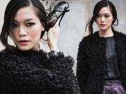 Hoa hậu Thùy Dung cá tính dạo bước trên phố Hà Nội