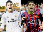 """Bóng đá Tây Ban Nha - Suarez & James Rodriguez: So tài """"bom tấn"""""""